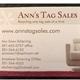 Ann's Tag Sales Logo