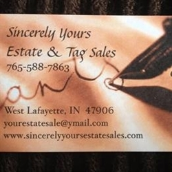 Sincerely Yours Estate & Tag Sales Logo