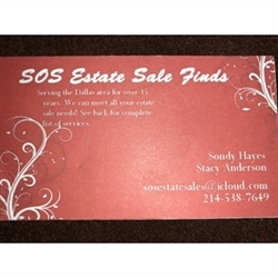 S O S Estate Sales Logo