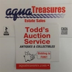 Aqua Treasures /Todd's Auction Service TAF 5415 Logo