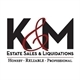 K & M Estate Sales Logo