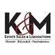 K & M Estate Sales Logo