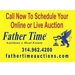 Father Time Auctions and Real Estate Logo